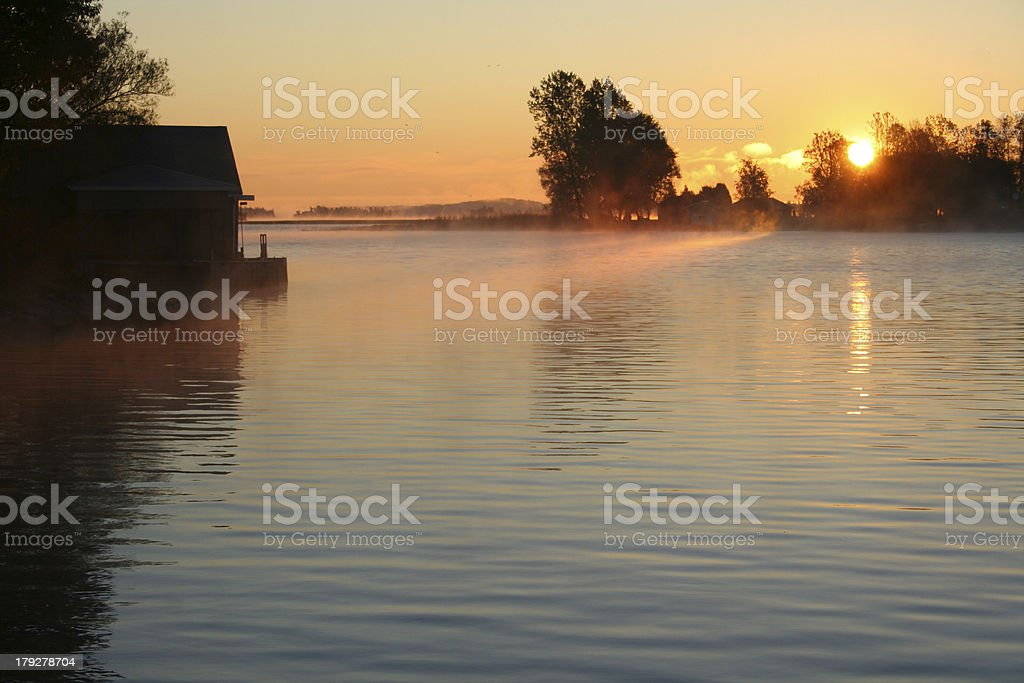 Sunrise on the River royalty-free stock photo
