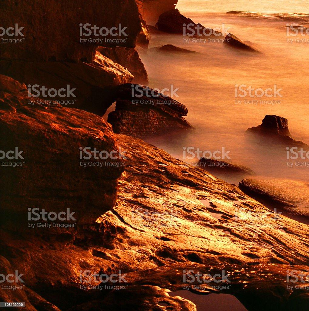 Sunrise on the rocks royalty-free stock photo