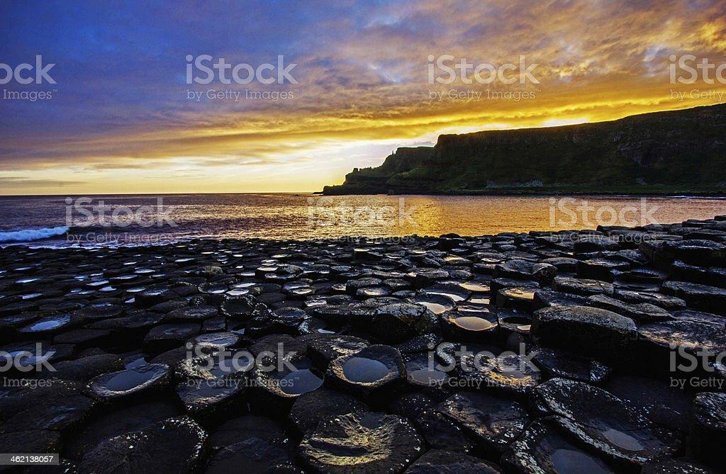 Sunrise on the rocks stock photo