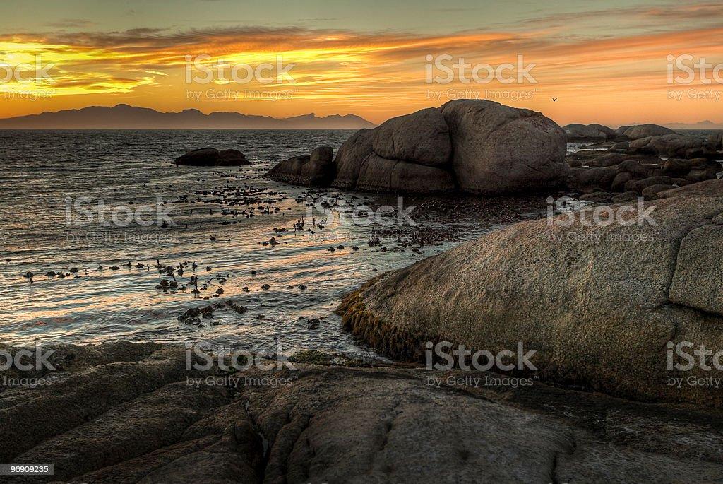sunrise on the sea royalty-free stock photo