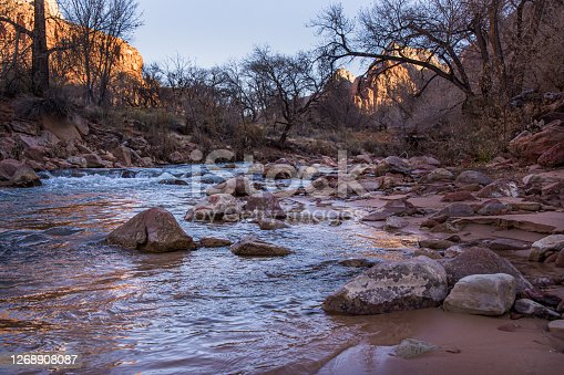 istock Sunrise on the Virgin River 1268908087