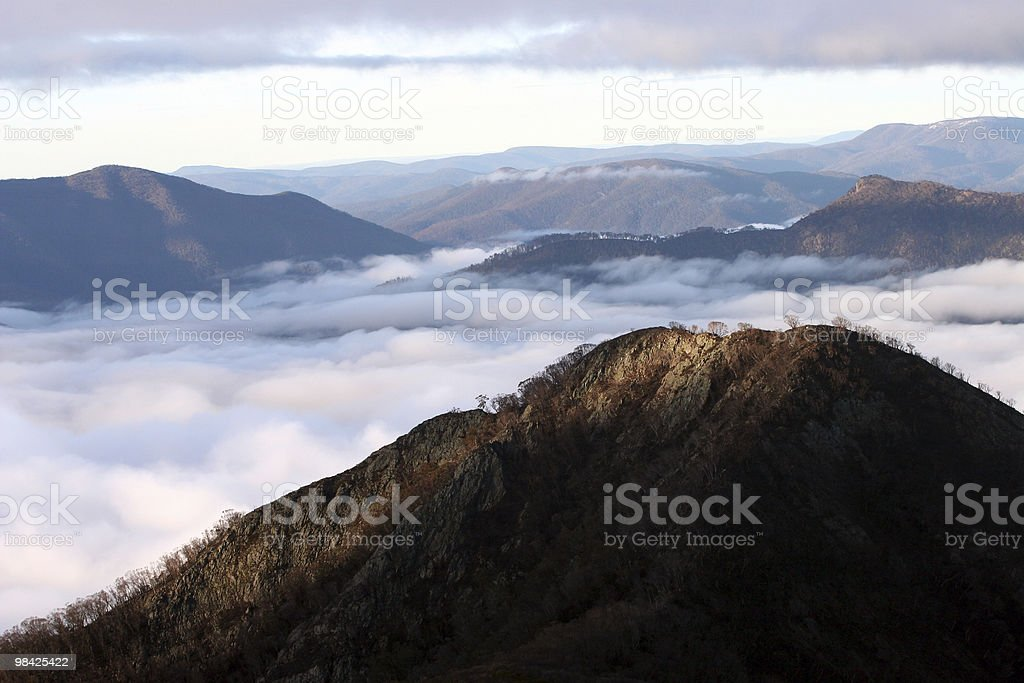 Sunrise on top of the mountain royalty-free stock photo