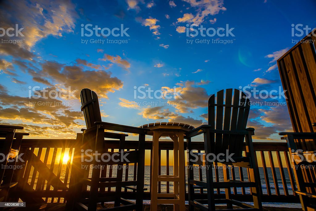 Sunrise on Topsail Beach North Carolina stock photo