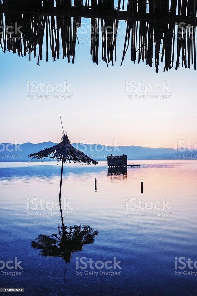 Sunrise on Tropical Beach royalty-free stock photo