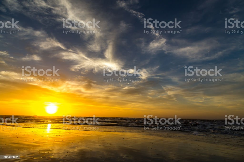 Sunrise Over Amelia stock photo