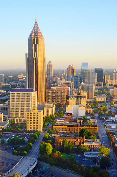 Sunrise Over Atlanta GA stock photo