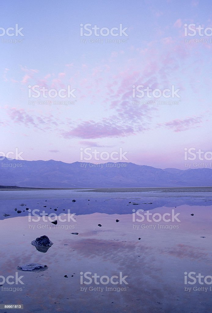 Sunrise over Badwater royalty-free stock photo