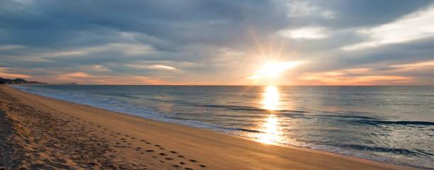 Sunrise over beach in San Jose Del Cabo in Baja California Mexico BCS stock photo