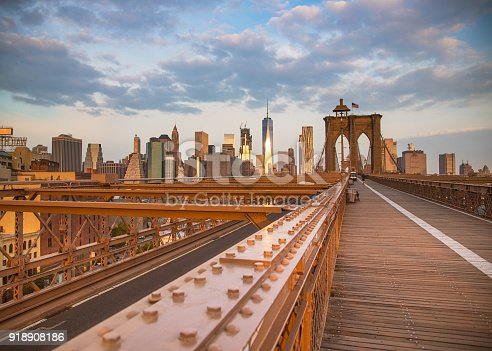 Golden sunrise,brooklyn bridge,usa