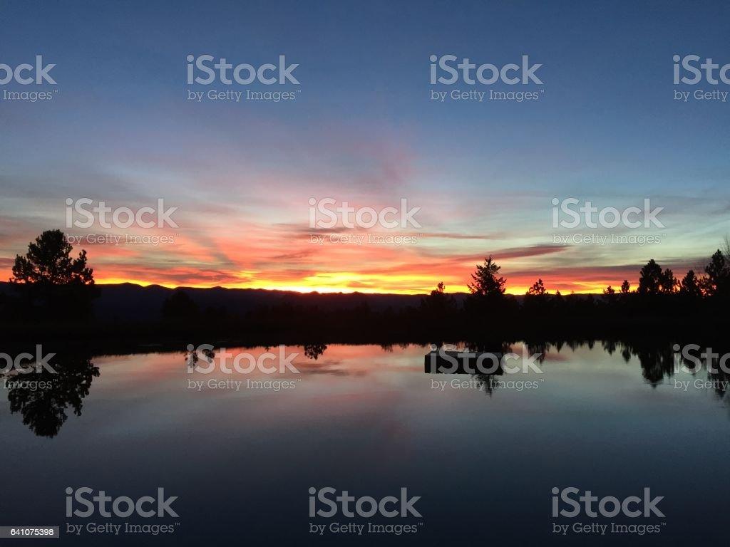 Sunrise over Buena Vista stock photo