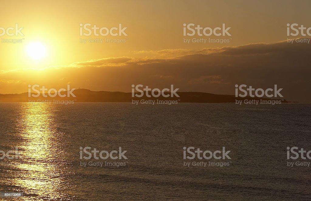 Sonnenaufgang über Cronulla Lizenzfreies stock-foto