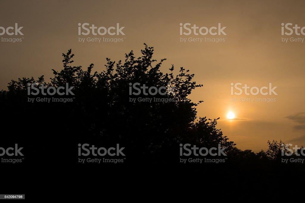 Sunrise over Cwmbran stock photo