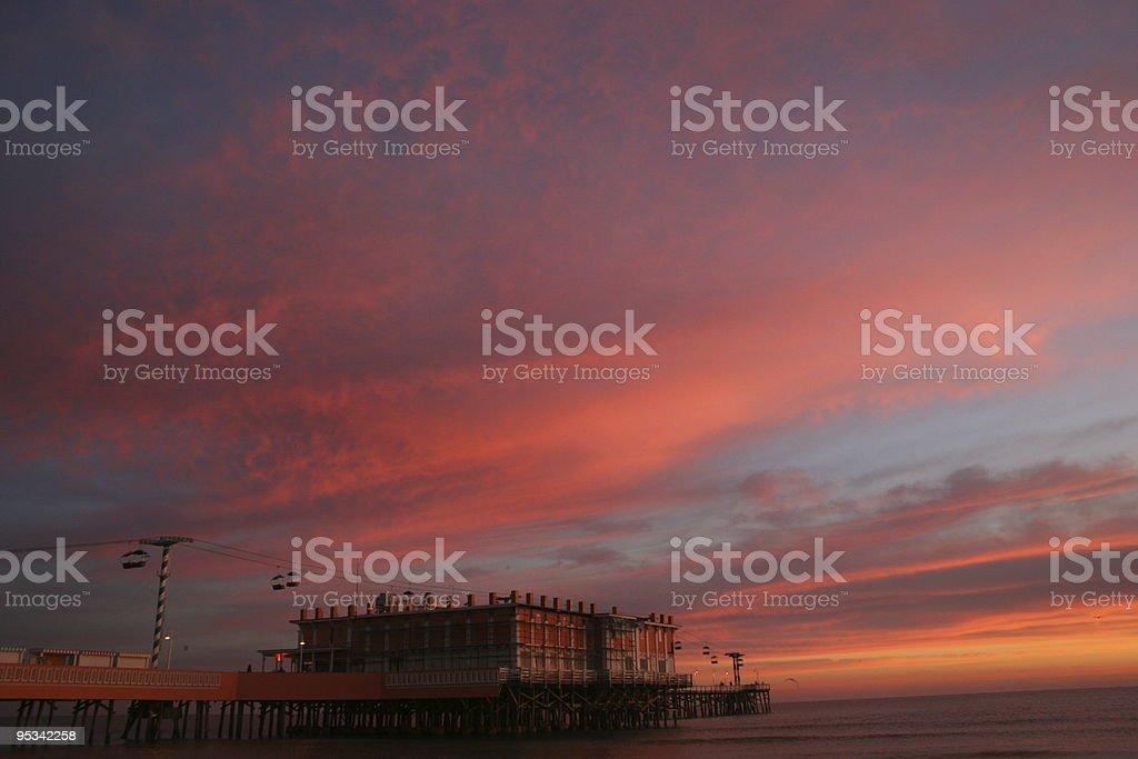 sunrise over daytona royalty-free stock photo