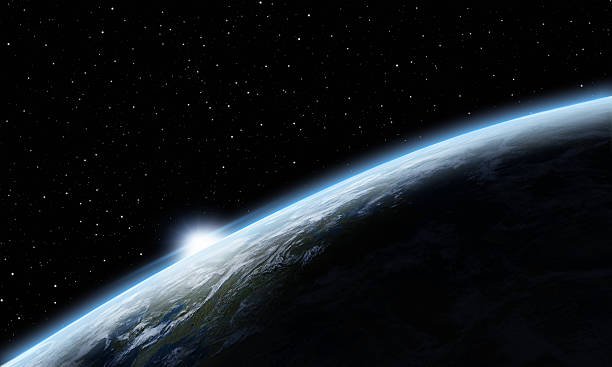Sunrise over Earth Sunrise over Earth planet earth stock pictures, royalty-free photos & images
