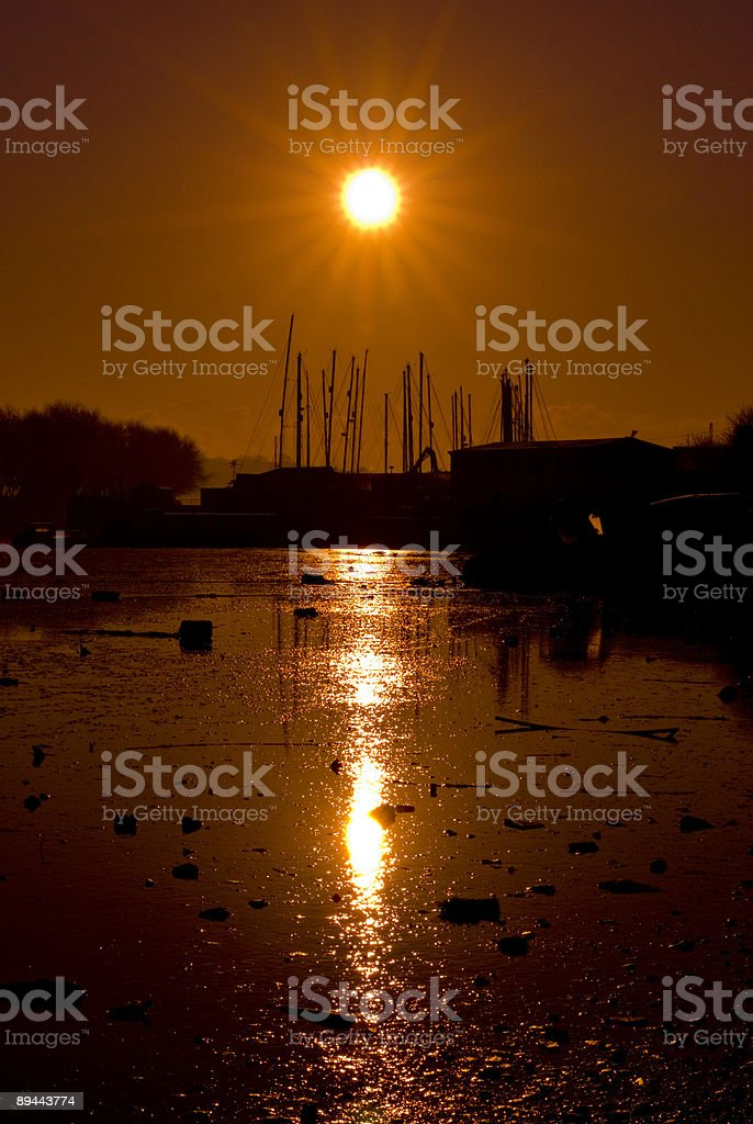 sunrise over estuary 免版稅 stock photo
