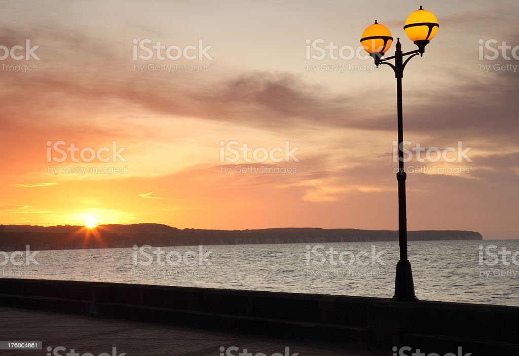 Sunrise Over Flamborough Head royalty-free stock photo