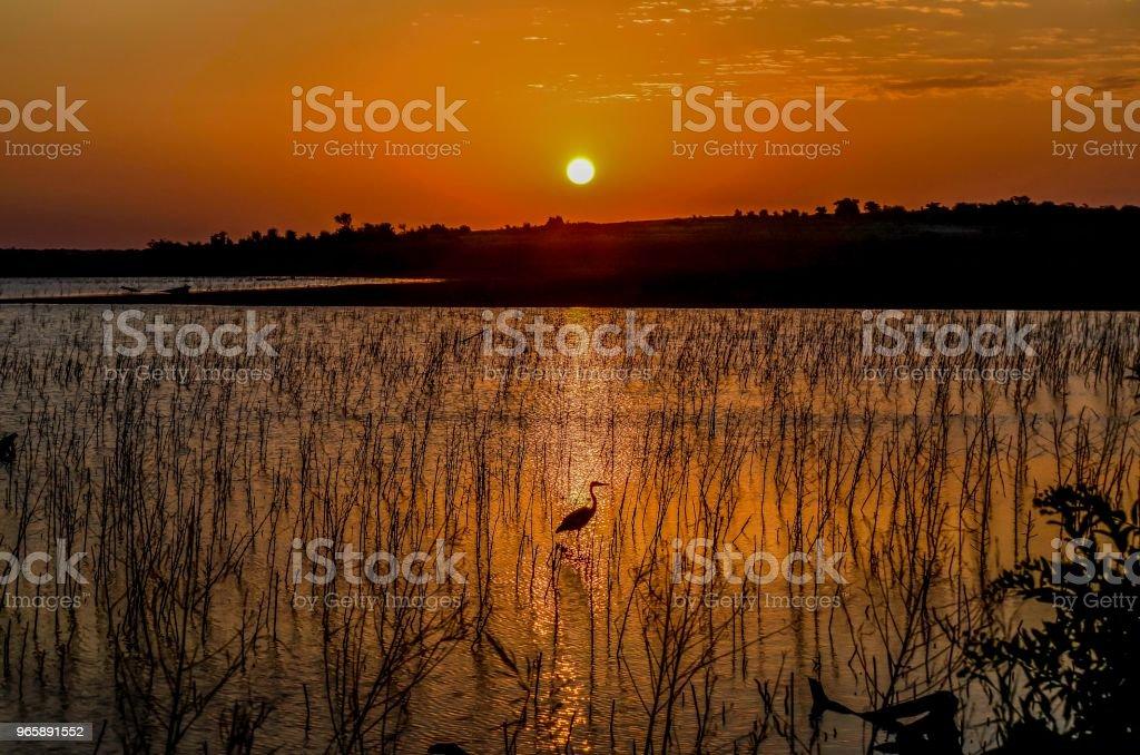 Zonsopgang boven Hagerman - Royalty-free Buitenopname Stockfoto