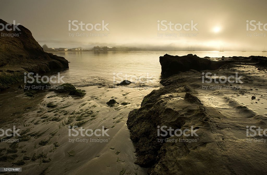 Sunrise over Harbor stock photo