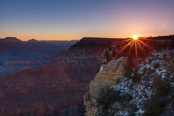 Sunrise Over Mather's Point, Grand Canyon, AZ stock photo