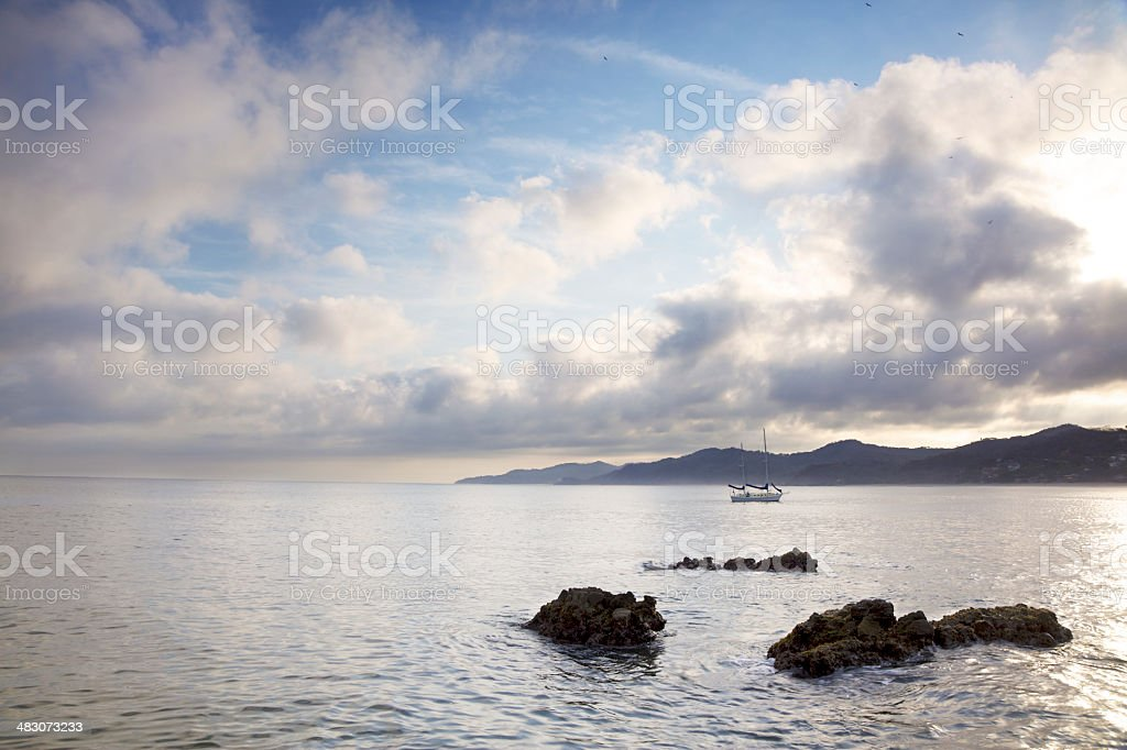 Sunrise Over Mexican Coast royalty-free stock photo