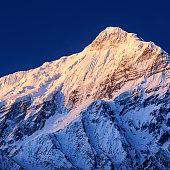 The Nilgiri Himal is a range of three peaks in the Annapurna massif, Nepal