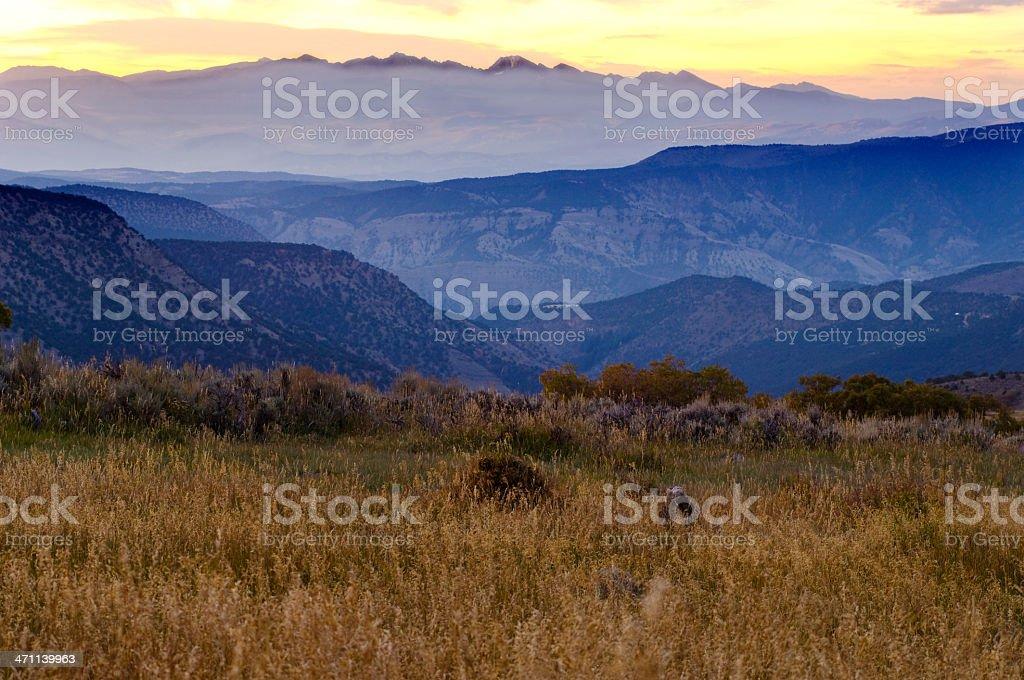 Sunrise Over Mountains stock photo
