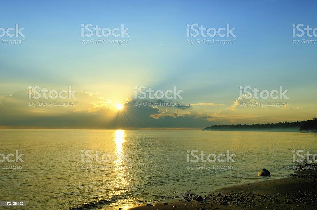 Sunrise over ocean royalty-free stock photo
