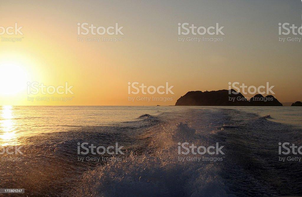 Sunrise over Oman royalty-free stock photo