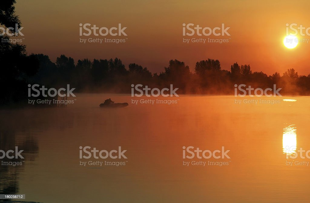 sunrise over river royalty-free stock photo