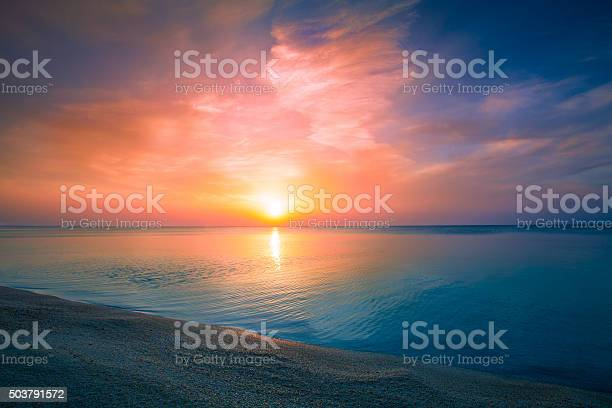 Sunrise Over Sea Stock Photo - Download Image Now