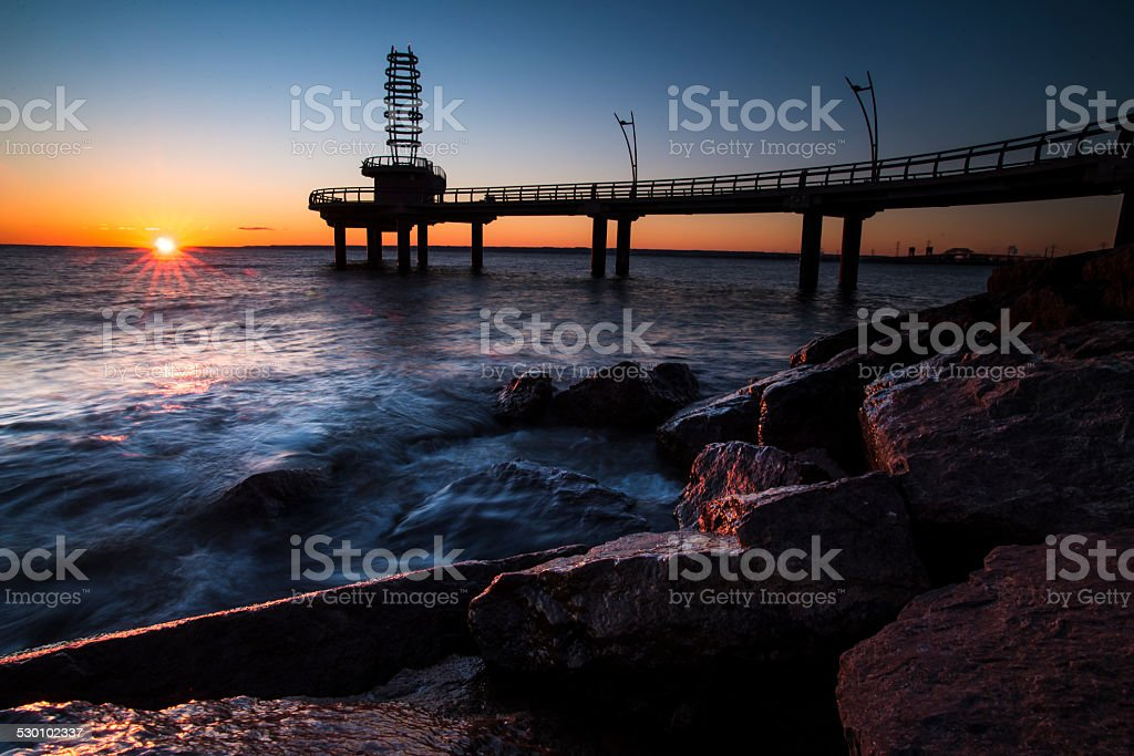 Sunrise over southern ontario stock photo