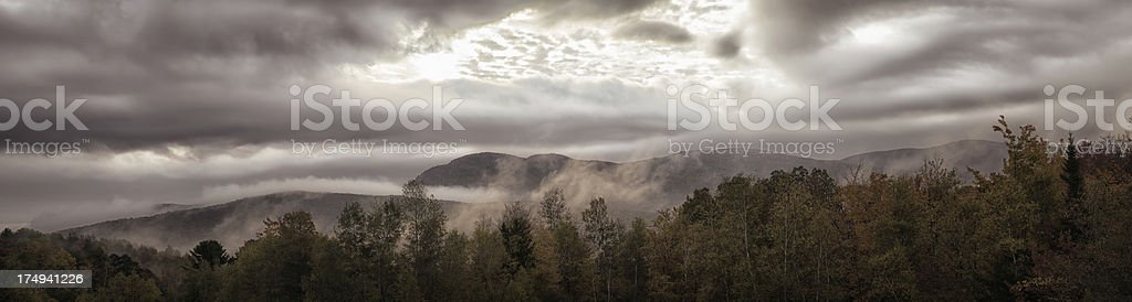 Sunrise over the Appalachians stormy panorama royalty-free stock photo