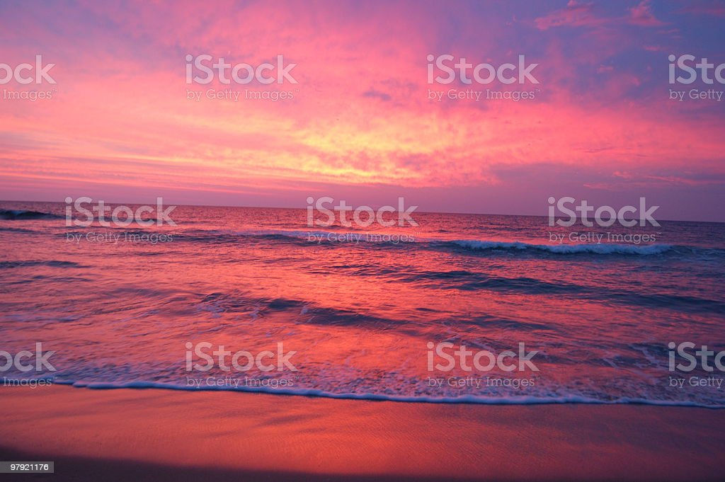 Sunrise over the Atlantic royalty-free stock photo