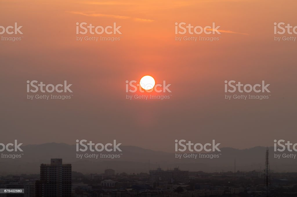 Sunrise over the city is developing. royalty-free stock photo
