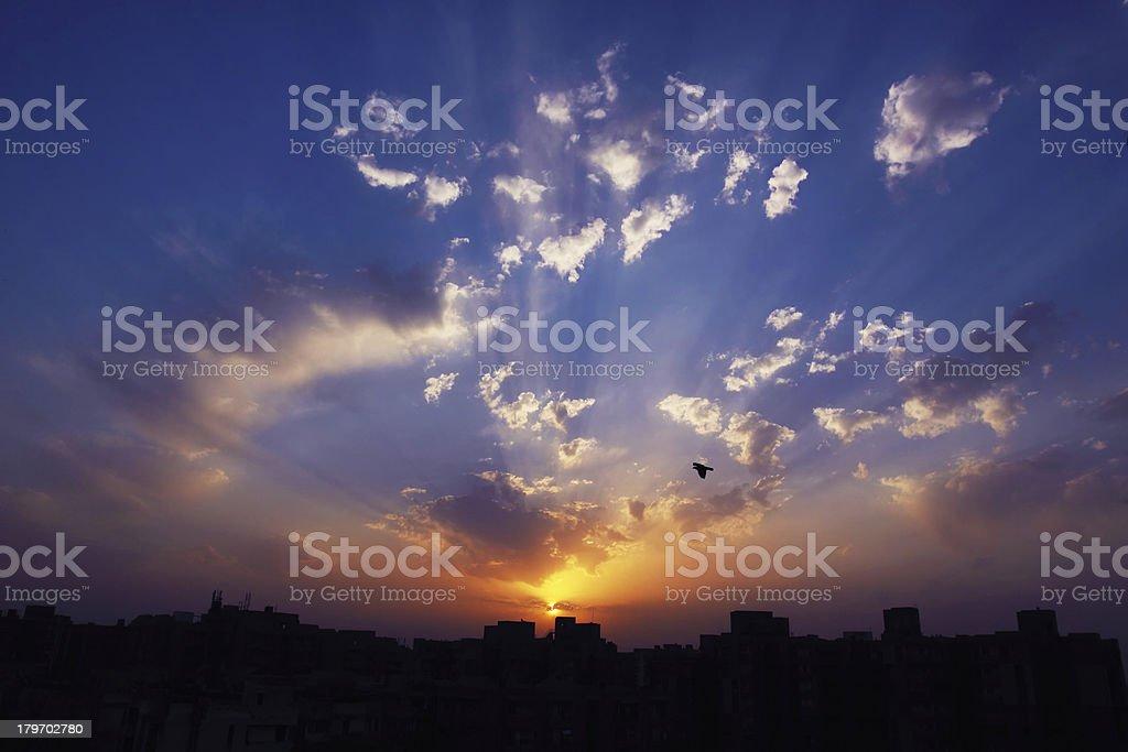Sunrise Over The City royalty-free stock photo