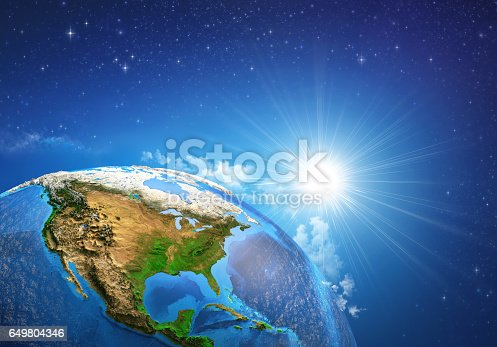 171057063istockphoto Sunrise over the Earth 649804346