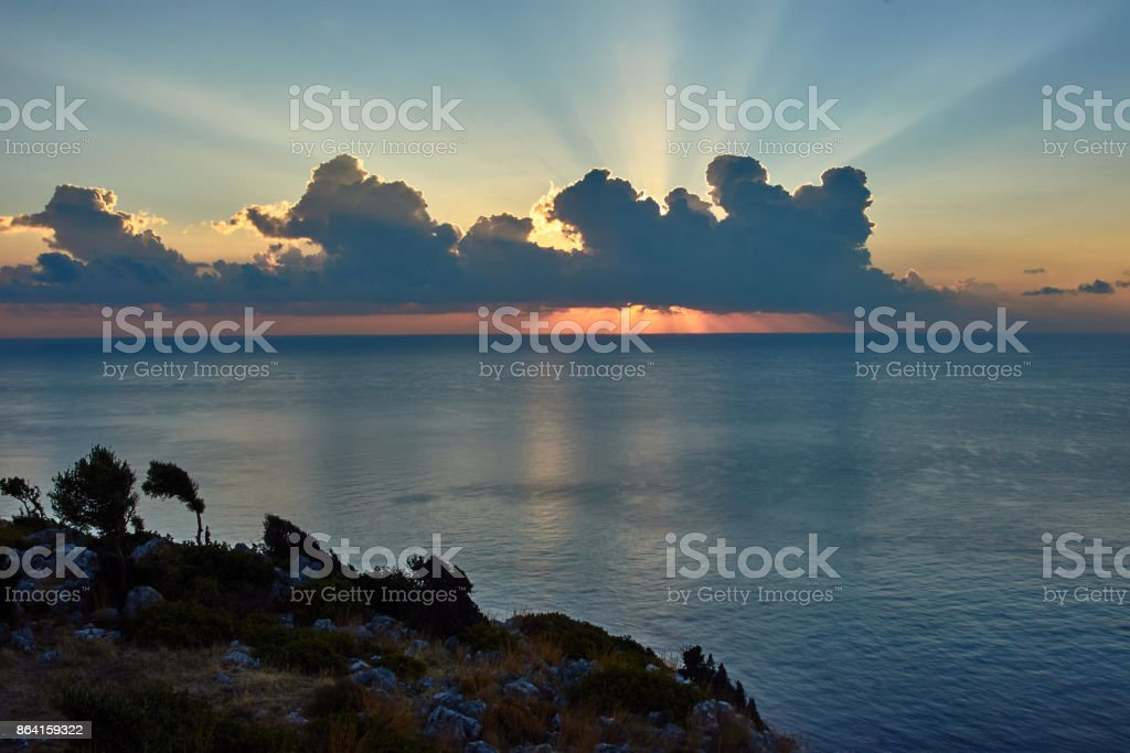 Sunrise over the Mediterranean Sea royalty-free stock photo