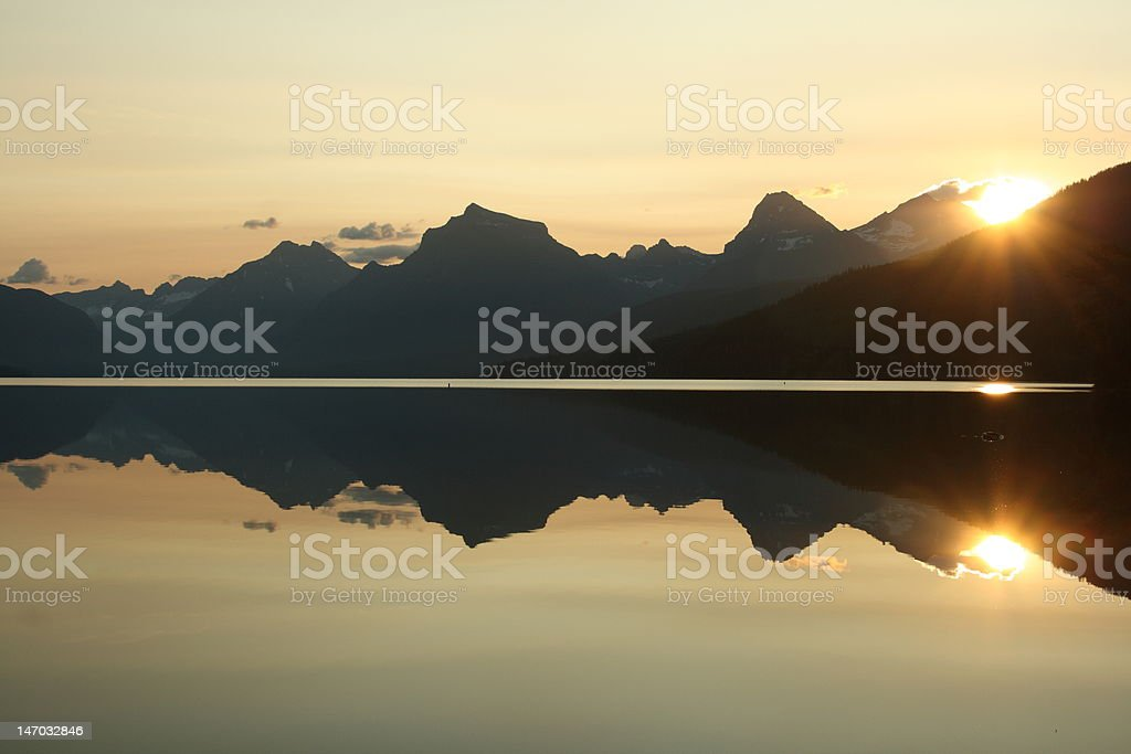 Sunrise Over the Mountains royalty-free stock photo