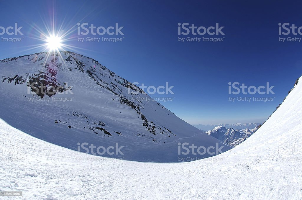 Sunrise over the mountains. royalty-free stock photo