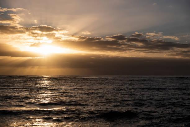 Sunrise over the Pacific - Kauai stock photo