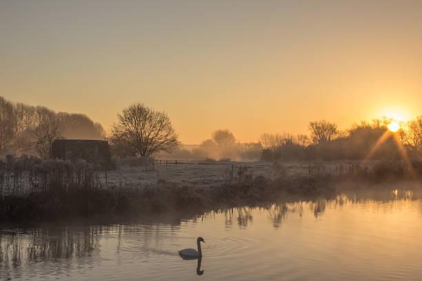 Sunrise Over the River Thames stock photo