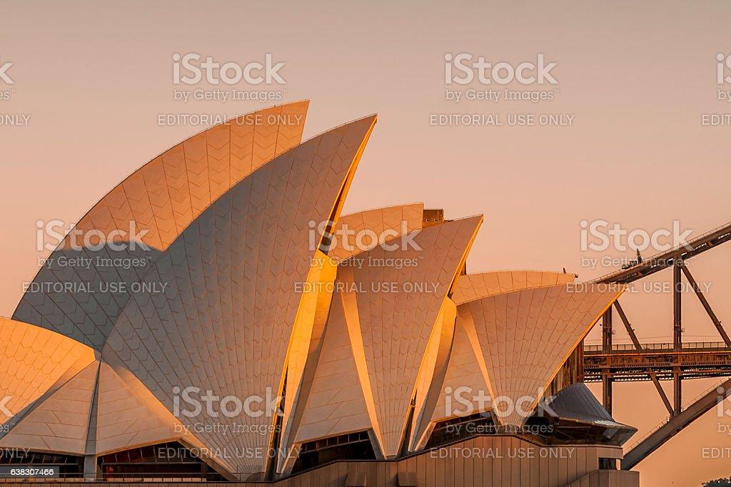 Sunrise over the Sydney Opera House stock photo