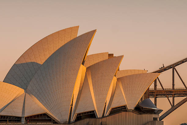 sunrise over the sydney opera house - nzgmw2017 stock pictures, royalty-free photos & images