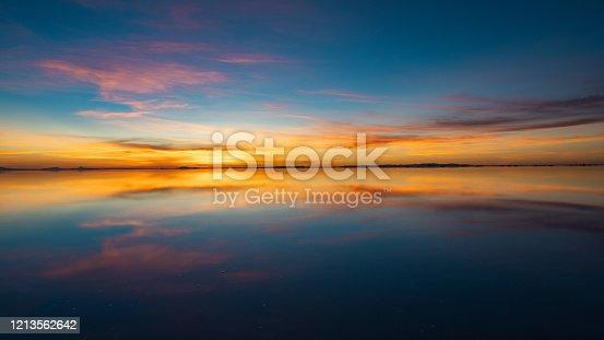 istock Sunrise Over Uyuni Salt Flats in Bolivia, South America 1213562642