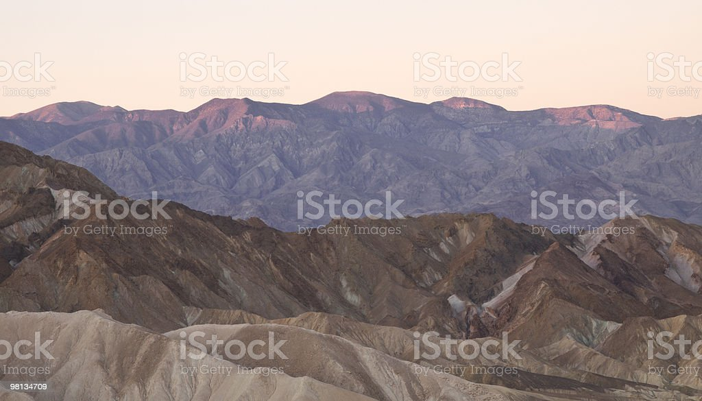 sunrise over zabriskie point royalty-free stock photo