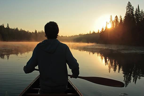 Sunrise Paddle stock photo