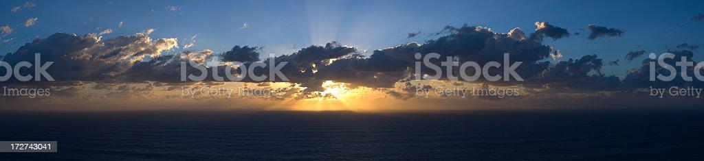 Sunrise Panorama XXL - 82 Megapixel royalty-free stock photo