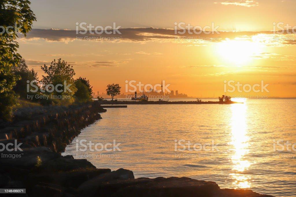 Sunrise Park Toronto Skyline Summer 2020 - Royalty-free 2020 Stock Photo