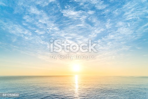 Sunrise in ocean