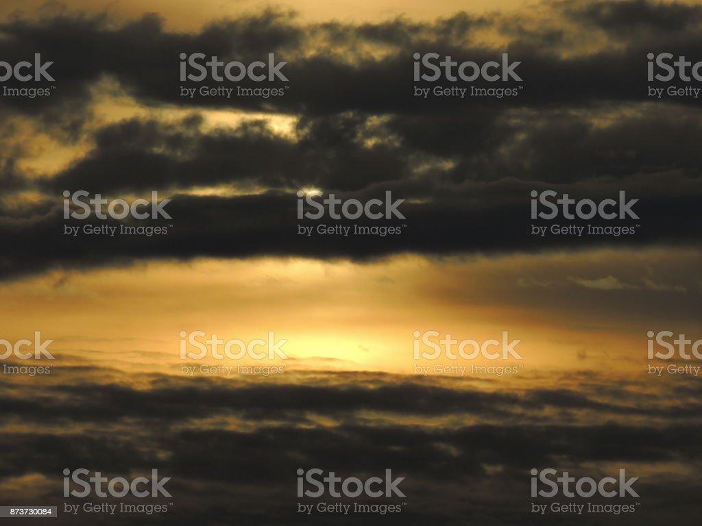 Sunrise Picture Postcard stock photo